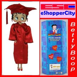 Betty Boop 12 Doll in graduation gown (RED gown)
