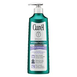 Curel Skincare Hydra Therapy Itch Defense Wet Skin Moisturizer, 12 Ounce