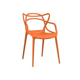 Masters Orange Modern Stackable Arm Chair (Set of 4)