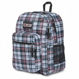 "Trans By JanSport 17"" Black Plaid SuperMax Backpack Sport School Travel Pack"