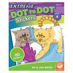 MindWare Extreme Dot to Dot Stickers: (Book 4)