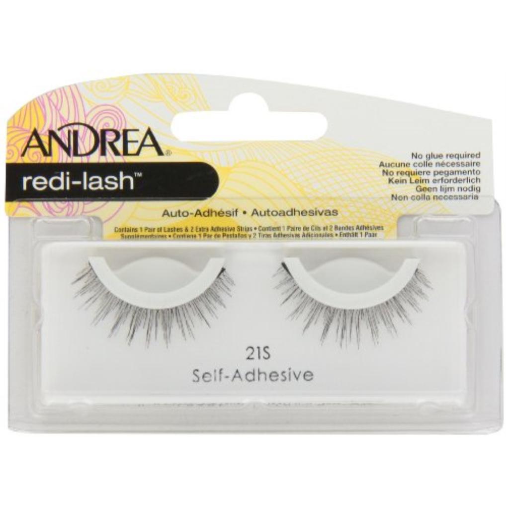 Andrea False Redi-Lash Strip Lashes, Self Adhesive Redi Lash 21 S