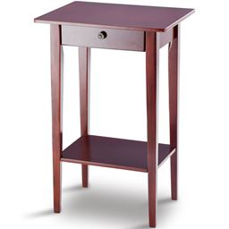 28 Height Tall Wood Side Accent Style Telephone Stand Table""