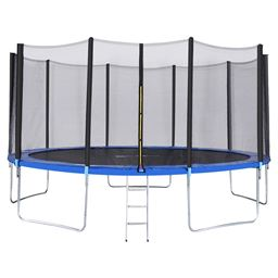 15 ft Trampoline Combo w/ Safety Enclosure Net  Spring Pad & Ladder