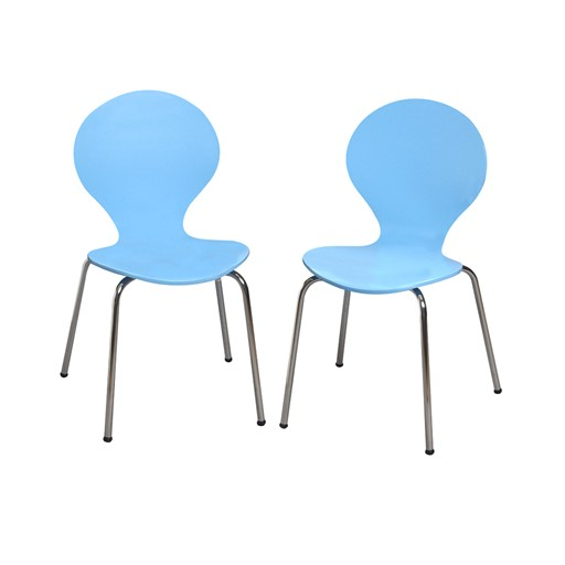 Gift Mark Modern Childrens 2 Chair Set with Chrome Legs - Blue Color The Gift mark Modern Childrens Two Chair set, is detailed with beautiful Chrome Legs. Our sculptured Chairs, add a bit of Color and Whimsy. The beautiful hand crafted Chair set is the Ideal place for, Learning, Playing, or Learning. Makes the Perfect Gift, for Nursery, Play room, or Den.  All tools included for Easy Assembly.