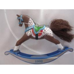 Hallmark Keepsake Ornament ; Rocking Horse 1992 Collectible QX426-1