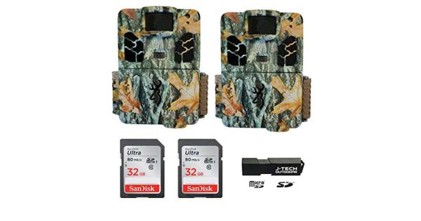 (2) Browning Dark Ops HD Pro X (2019) Trail Game Cameras Bundle Includes 32GB Memory Cards and J-TECH Card Reader (20MP) | BTC6HDPX thumbnail
