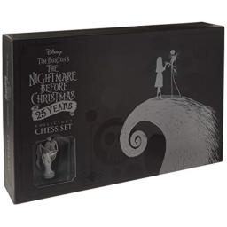 USAOPOLY Nightmare Before Christmas 25 Years Collector's Chess Set | 25th Anniversary Collectable Piece Figures Set 32 Custom Sculpt Nightmare Before Christmas Movie Characters