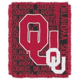 """The Northwest Company Officially Licensed NCAA Oklahoma Sooners Double Play Jacquard Throw Blanket, 48"""" x 60"""""""