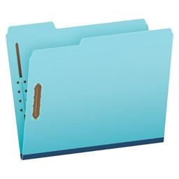 "Pendaflex Pressboard Fastener Folders, Letter Size, Light Blue, 1"" Expansion, 1/3 Cut, 25/BX (615F21-3BLU)"