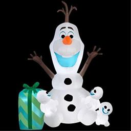 Gemmy Inflatable Olaf with Snowgies Scene