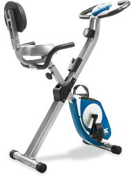 Folding Exercise Bike, Silver