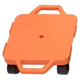 Cosom Scooter Board, 12 Inch Children's Sit & Scoot Board with 2 Inch Non-Marring Nylon Casters & Safety Guards for Physical Education Class, Sliding Boards with Safety Handles, Orange