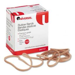 UNIVERSAL 4117 Rubber Bands, Size 117, 7 x 1/8, 50 Bands/1/4lb Pack