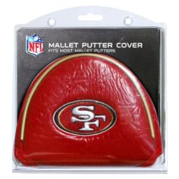 Team Golf NFL San Francisco 49ers Golf Club Mallet Putter Headcover, Fits Most Mallet Putters, Scotty Cameron, Daddy Long Legs, Taylormade, Odyssey, Titleist, Ping, Callaway