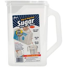 BUDDEEZ Sugar Keeper & More [Flip-up Pour SPOUT] BPA Free [Easy-Grip Handle] Made in USA