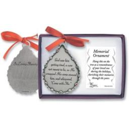 Cathedral Art God Saw Him Getting Tired Teardrop Memorial Ornament