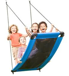 HearthSong SkyCurve Platform Tree Swing with Comfy Mat and Padded Steel Frame, 60L x 32W, Holds up to 400 lbs.