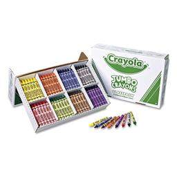 Crayola 528389 Jumbo Classpack Crayons, 25 Each of 8 Colors, 200/Set