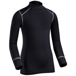 ColdPruf Youth Quest Performance Base Layer Long Sleeve Mock Neck Top, Black, Medium
