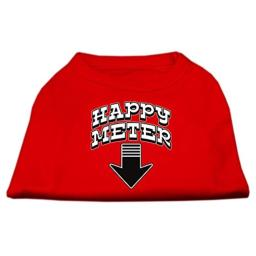 Happy Meter Screen Printed Dog Shirt Red Med (12)
