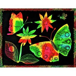 Melissa & Doug Scratch Art Paper - 12 Multicolor Sheets and Wooden Stylus