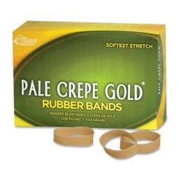 Alliance Rubber Pale Crepe Gold Rubber Bands #82 - 1 Pound box 20825 by Alliance