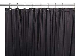 "American crafts 8 Gauge ""Hotel Collection"" Vinyl Shower Curtain Liner With Metal Grommets - Black - 72"" X 72"""