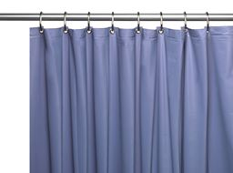 "American crafts 8 Gauge ""Hotel Collection"" Vinyl Shower Curtain Liner With Metal Grommets - Slate - 72"" X 72"""