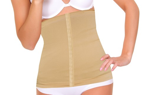 Top Quality Premium New Unisex Compression and Detox Waist Wrap Slimmer Tan
