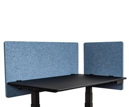 "Luxor Reclaim 2 Pack Desktop Privacy Panel In Pacific Blue - 48""W x 24""H"