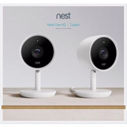 New Sealed Nest Cam IQ Indoor Full HD Wi-Fi Home Security Camera 2-Pack White