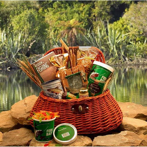 Gift Basket The Fisherman's Fishing Creel Gift Basket – Large