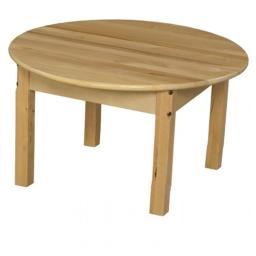 Wood Designs 83014C6 30 in. Mobile Round Hardwood Table With 14 in. Legs