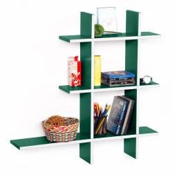 Natural Life-A Leather Cross Type Shelf / Bookshelf / Floating Shelf (5 pcs)
