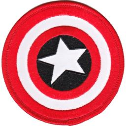 "Marvel Comics Patch-Retro Captain America Shield 3"" Round P-MVL-2"