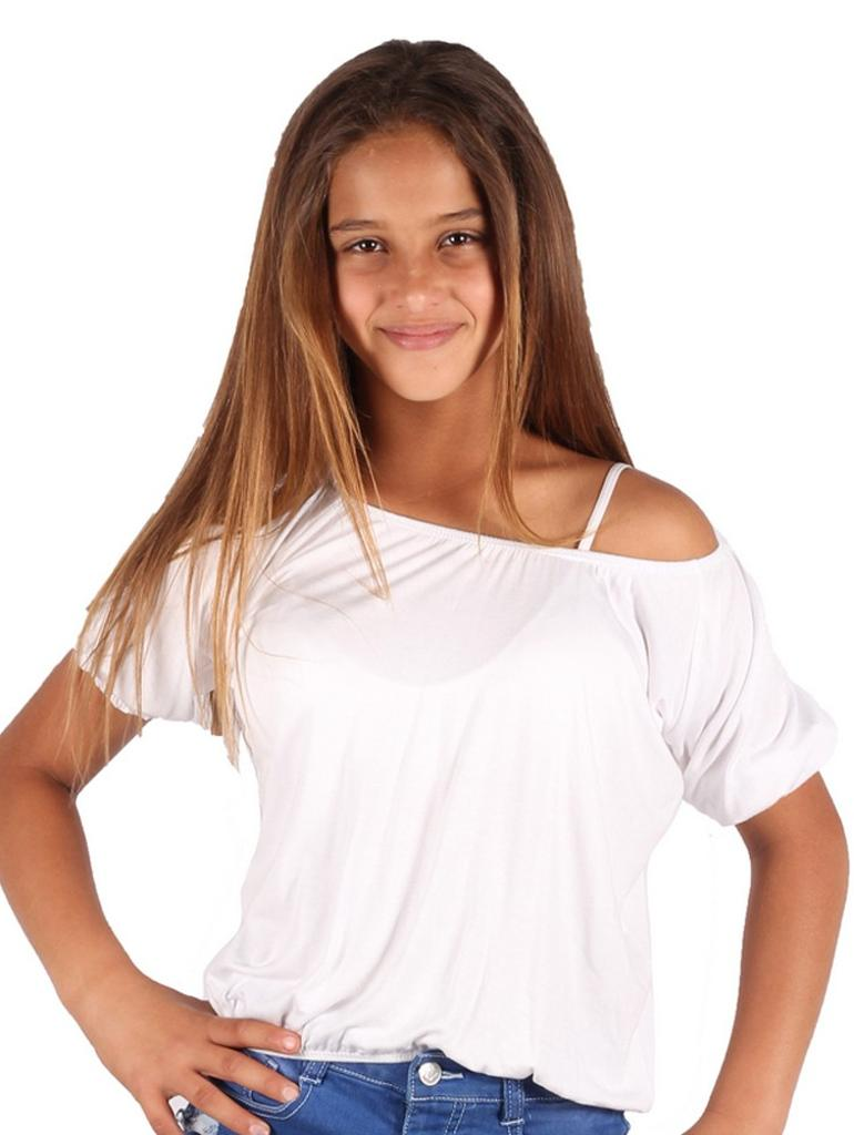 Lori /& Jane Girls White Rainbow Wing Horse Long Sleeve Hi-Low Tunic 6-16