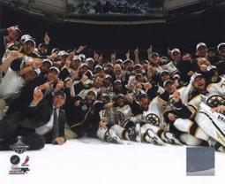 The Boston Bruins Celebrate Winning Game 7 of the 2011 NHL Stanley Cup Finals Sports Photo PFSAANS22301
