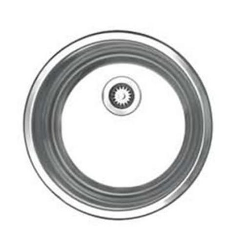 12.75 in. Noahs Collection round drop-in entertainment-prep sink- Brushed Stainless Steel