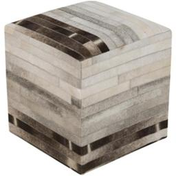Surya Rug POUF-243 Taupe Pouf 18 x 18 x 18 in.