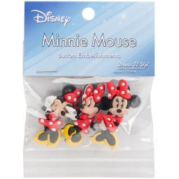 Dress It Up Licensed Embellishments-Disney Minnie Mouse DIULBTN-7717