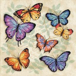 """Butterfly Profusion Counted Cross Stitch Kit-11""""X11"""" 14 Count 35145"""