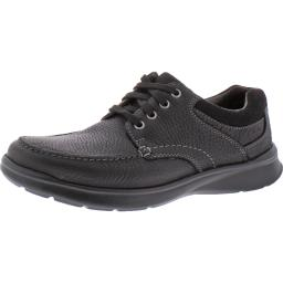 Clarks Mens Cotrell Edge Leather Moc Toe Oxfords