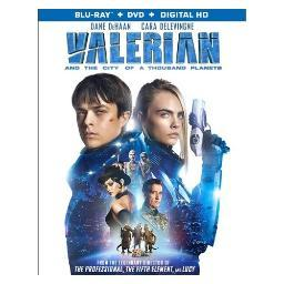 Valerian & the city of a thousand planets (blu ray/dvd w/dig hd) (ws/eng/fr BR53138