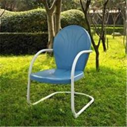 Crosley Furniture CO1001A-BL Griffith Metal Chair in Sky Blue Finish