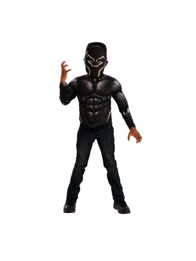 Black Panther Muscle Chest Shirt Set