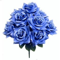 Admired by Nature GPB9340-LT.BL Artificial Blossoms Rose Bush, Light Blue