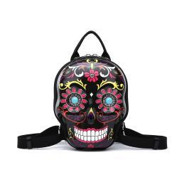 Day of the Dead Hard Shell Sugar Skull Backpack Purse Small