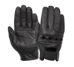 Rothco Black Leather Motorcycle Gloves 4418