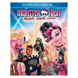 MONSTER HIGH-FRIGHTS CAMERA ACTION (BLU RAY/DVD/DIGITAL HD W/ULTRAVIOLET) 25192199042